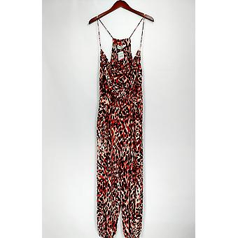 Thaaphloraupler Jumpsuits Animal Printed Skinny Leg Brown