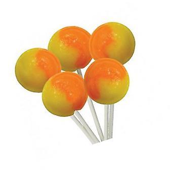 1 Bag of 5 Orange and Lemon Flavour Mega Lollies