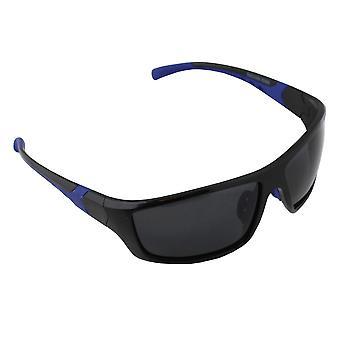 Sonnenbrille UV 400 Sport Rechteck Polarisieren Glas blau schwarz S366_3 FREE BrillenkokerS366_3