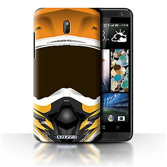 STUFF4 Case/Cover voor HTC Desire 609d/Motocross/Orange/motorfiets helm