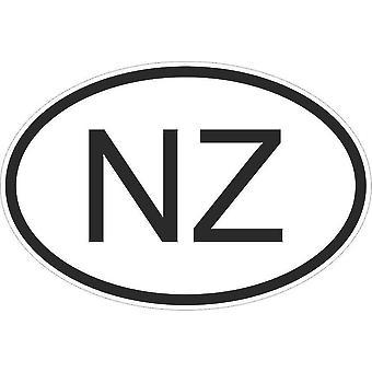 Autocollant Sticker Drapeau Oval Code Pays Voiture Moto Nouvelle Zelande Neo Nz