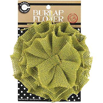 Jute Flower Avocado Burflwr 2084
