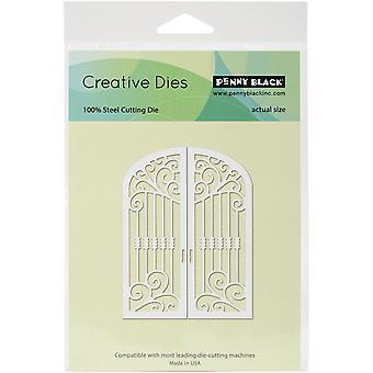 Penny Black Creative Dies-Gothic Gate 2.75