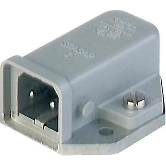 Mains connector ATT.LOV.SERIES_POWERCONNECTORS STASAP Plug, horizontal mount Total number of pins: 2 + PE 16 A Grey Hir