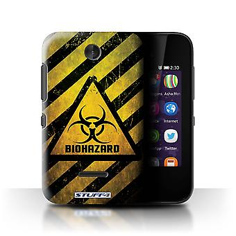 STUFF4 Case/Cover for Nokia Asha 230/Biohazard/Hazard Warning Signs
