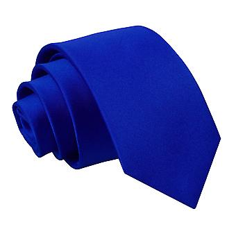 Boy's Plain Royal Blue Satin Tie (8+ years)