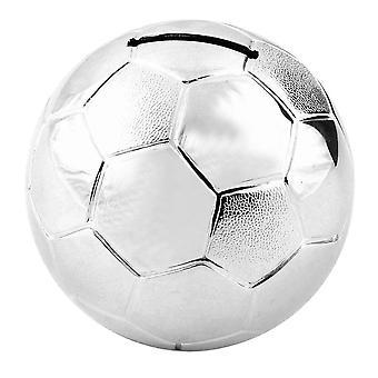 Silver Plated Football Money Box Christening Birth Christmas Gift Boy Present