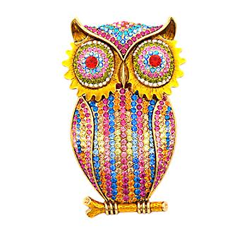 Butler  and  Wilson Large Crystal Owl Brooch Necklace