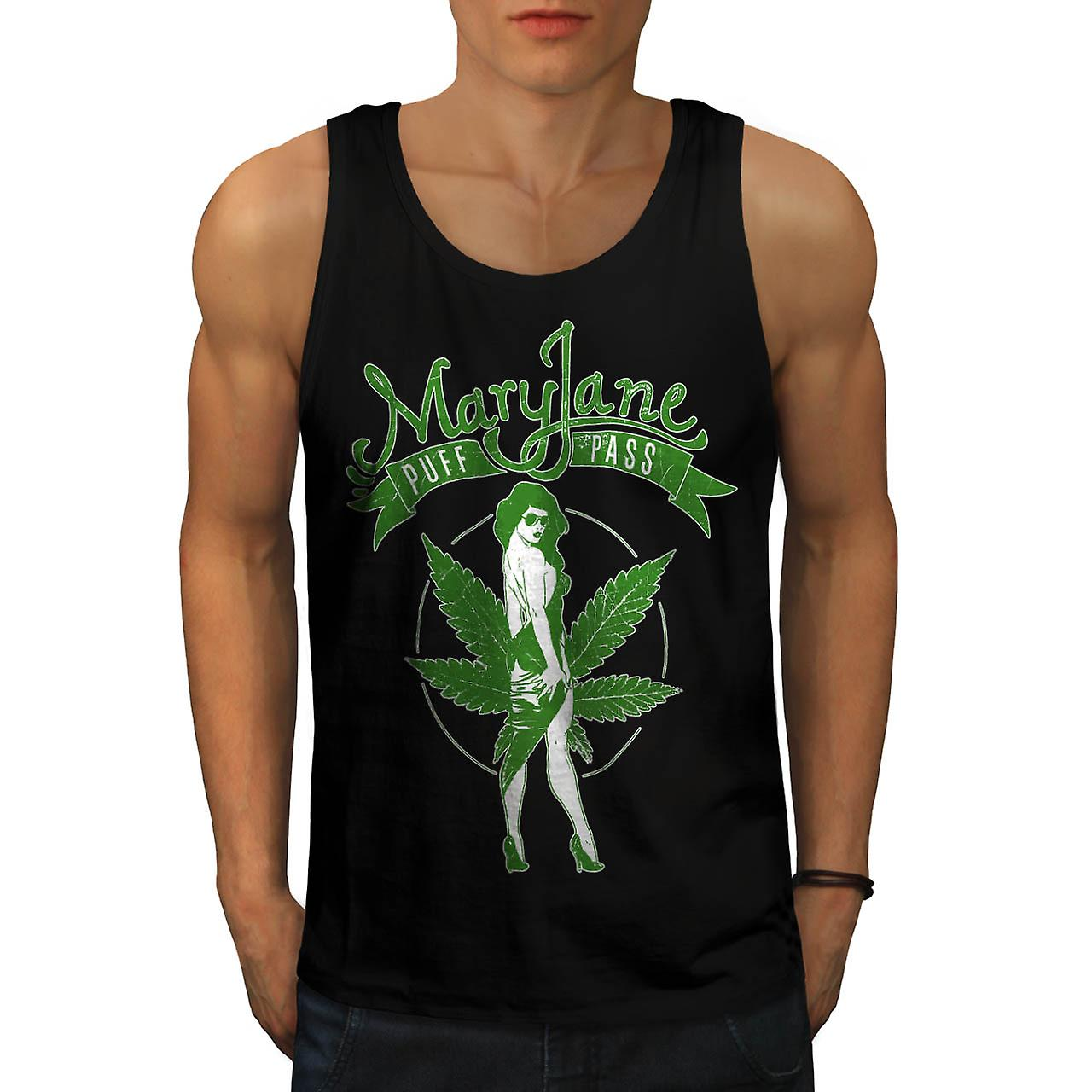 Onkruid Puff Pass Dope Mary Jane mannen Tank Top zwart | Wellcoda