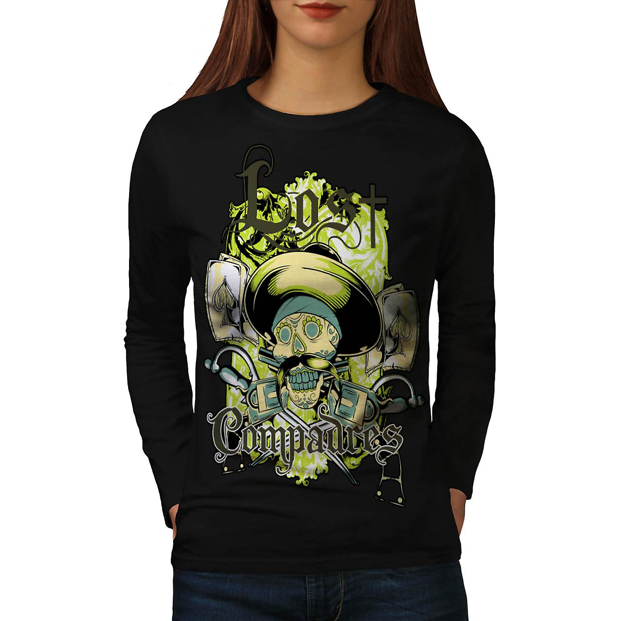Lost Compadres Team Mexico Man Women Black Long Sleeve T-shirt | Wellcoda