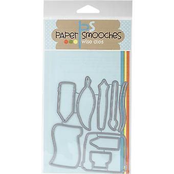 Paper Smooches Die-Just A Note Icons A2D336