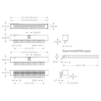 Pin strip Contact spacing: 1.27 mm Total number of pins: 14 W & P Products 1 pc(s)