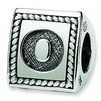 Sterling Silver Reflections Letter O Triangle Block Bead Charm
