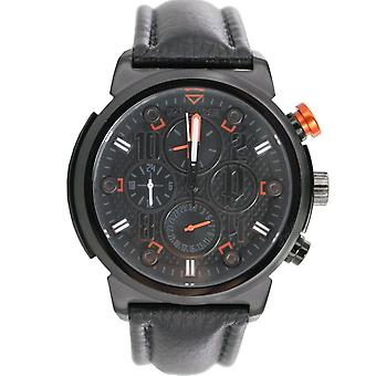 Police mens watch wristwatch leather analog PL. 14250XSB/02
