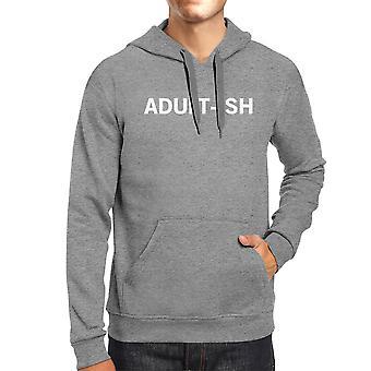 Adult-ish Unisex Heather Grey Hoodie Simple Trendy typografie Top