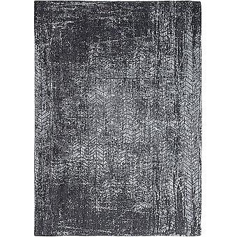 Harlem kontrast trækul grå Chevron tæppe - Louis De Poortere