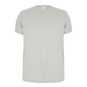 BadRhino Grey Marl Short Sleeve Grandad T-Shirt
