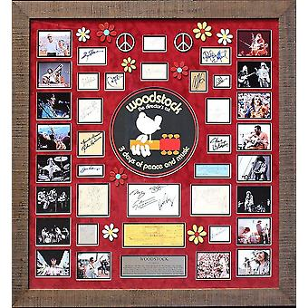 Woodstock 1969 Festival - Signature Collage