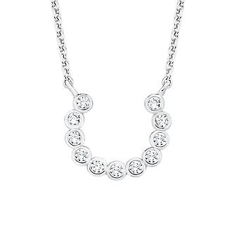 s.Oliver jewel ladies necklace-silver cubic zirconia SO PURE Horseshoe 2017136