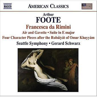 A. Foote - Arthur Foote: Francesca Da Rimini [CD] USA import