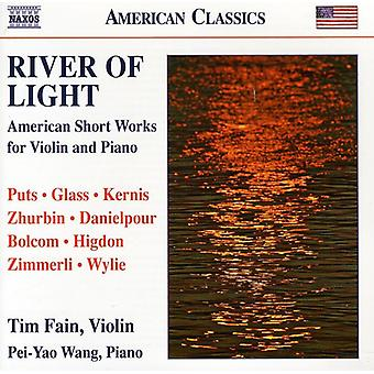 Puts/Glass/Kernis/Zhurbin/Danielpour/Bolcom/Jigdon - River of Light: American Short Works for Violin & Piano [CD] USA import