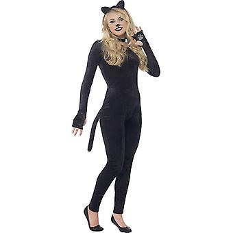 Cat suit jumpsuit black ladies cat costume cat costume size S