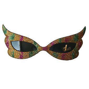 Glitterbrille Schmetterling Scherzbrille Glitzer Brille Sonnenbrille
