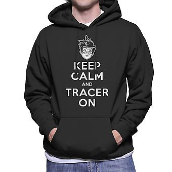 Keep Calm And Tracer On Overwatch Men's Hooded Sweatshirt