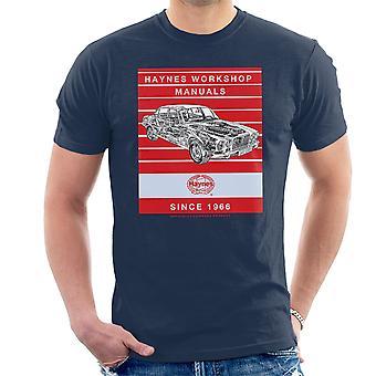 T-shirt Haynes Workshop Manual 0242 Jaguar XJ6 Stripe masculino