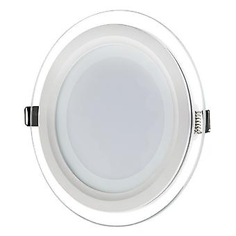 I LumoS LED 12 Watt Round Recessed Glass Lighting Panel Slim Ceiling Light