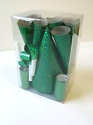Party Pack For 24 People Green Holographic