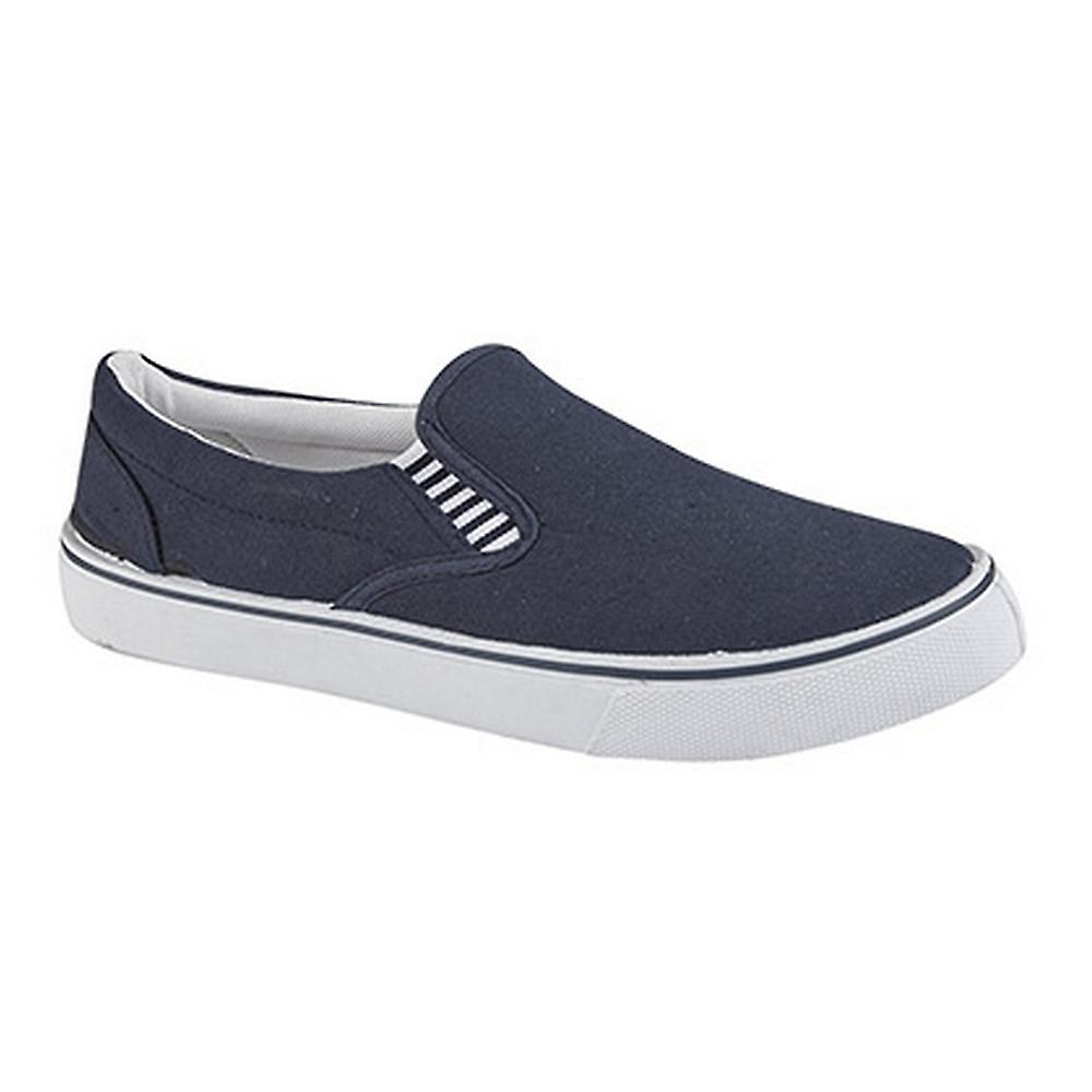 Dek Yachting Boys Gusset Casual Canvas Yachting Dek Shoes bd6269