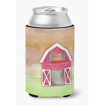 Carolines Treasures  BB7409CC Barn Watercolor Can or Bottle Hugger