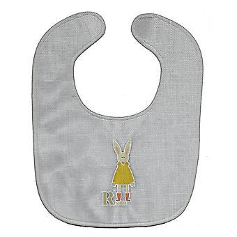 キャロラインズ宝物 BB5743BIB アルファベット R ウサギ赤ちゃんよだれかけ