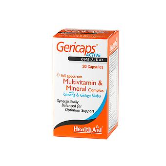 Health Aid Gericaps Active (with Ginseng + Ginkgo Biloba) ,  30 Capsules