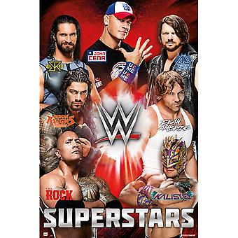 Wwe Superstars Poster Poster Print