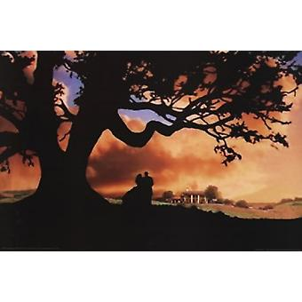Gone with the Wind - Silhouette Poster Poster Print