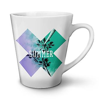 Holiday Summer Vacation NEW White Tea Coffee Ceramic Latte Mug 17 oz | Wellcoda