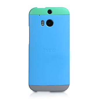 Official HTC One M8 Double Dip Hard Shell Case - Green-Blue