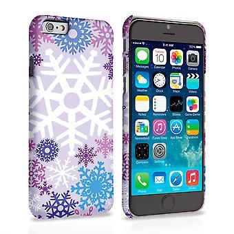 iPhone 6 s Winter Weihnachten Schneeflocke Hard Case - lila
