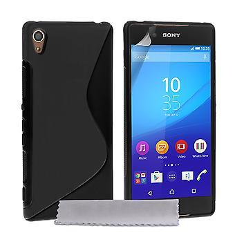 Caseflex Sony Xperia Z3 Plus Silicone Gel S-Line Case - Black