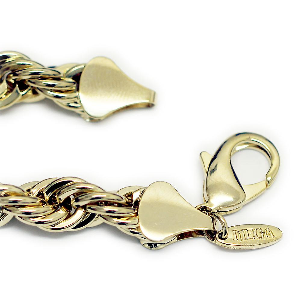 18K Gold Plated Old School Hip Hop Rope Chain, Dookie Chain 10mm x 30 Inches