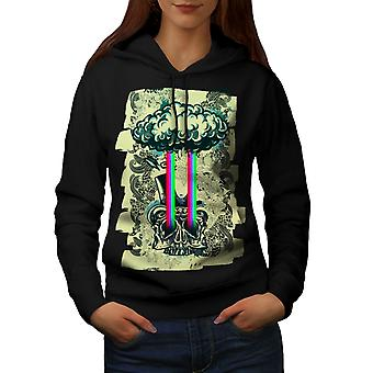 Rainbow Death Cool Skull Women BlackHoodie | Wellcoda