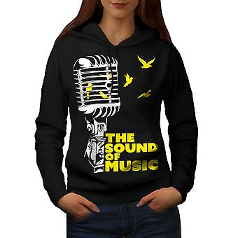Freedom Saying Song Music Women BlackHoodie | Wellcoda