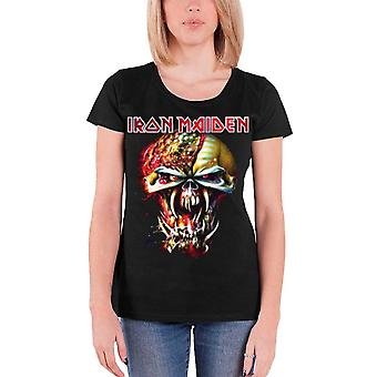 Iron Maiden T Shirt Final Frontier Eddie Head Official Womens New Skinny Fit