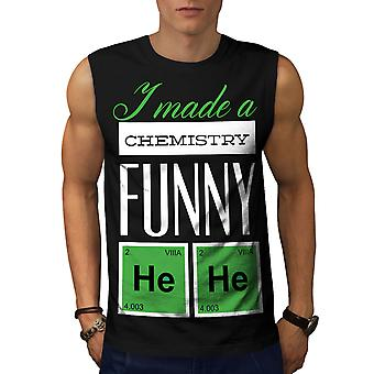 Funny Chemistry Geek Men BlackSleeveless T-shirt | Wellcoda