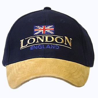 London England Baseball Cap Suede Cap with adjustable strap