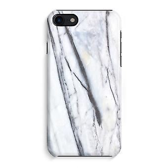 iPhone 8 Full Print saken (glanset) - stripete marmor