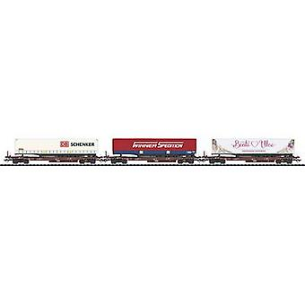TRIX H0 T24548 TRIX T24580 H0 DB Flat Car Set (3 pcs)