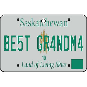 SASKATCHEWAN - Best Grandma License Plate Car Air Freshener